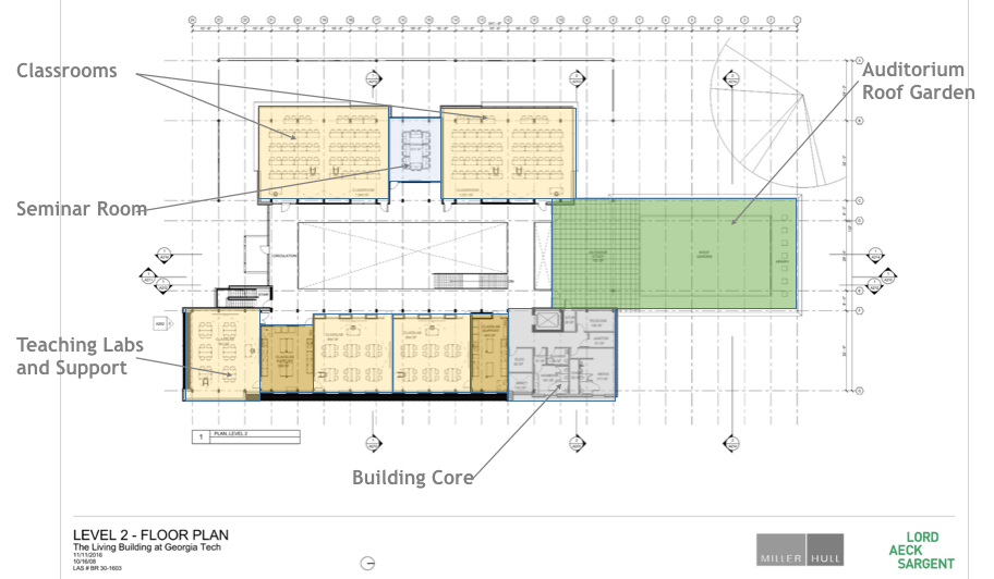 schematic design, Georgia Tech, Living Building